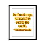 Gandhi Quote Framed Panel Print