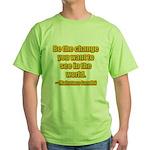 Gandhi Quote Green T-Shirt