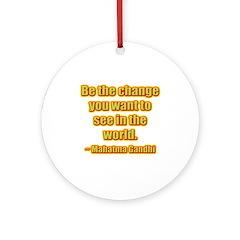 Gandhi Quote Ornament (Round)