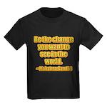 Gandhi Quote Kids Dark T-Shirt