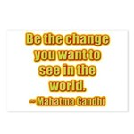 Gandhi Quote Postcards (Package of 8)