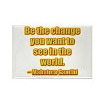 Gandhi Quote Rectangle Magnet (100 pack)