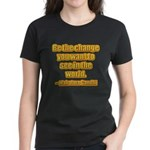 Gandhi Quote Women's Dark T-Shirt