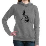 Philippines Map Dark Hooded Sweatshirt