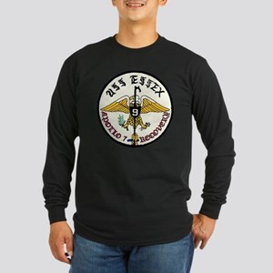 USS Essex Apollo 7 Recove Long Sleeve Dark T-Shirt