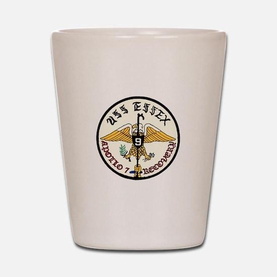 USS Essex Apollo 7 Recovery Shot Glass