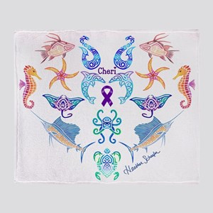 Cheri's Ocean Treasures Throw Blanket
