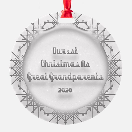 1St Christmas As Great Grandparents 2020 Ornament