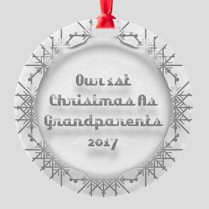 1St Christmas As Grandparents 2017 Ornament