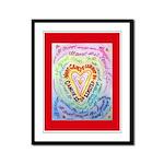 Rainbow Heart Cancer Framed Panel Print