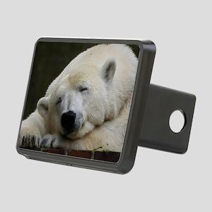 Polar bear 011 Rectangular Hitch Cover