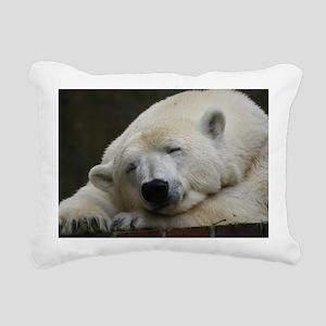 Polar bear 011 Rectangular Canvas Pillow