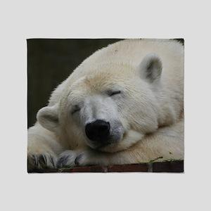 Polar bear 011 Throw Blanket