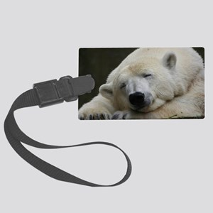 Polar bear 011 Large Luggage Tag