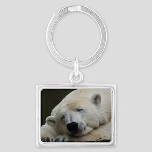 Polar bear 011 Landscape Keychain