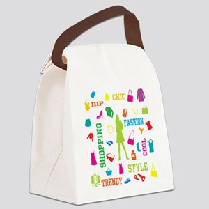 Fashion chic shopping design Canvas Lunch Bag