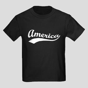 Sporty Wavy America Patriotic T-Shirt