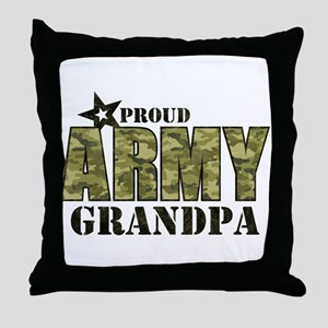 Camo Proud Army Grandpa Throw Pillow