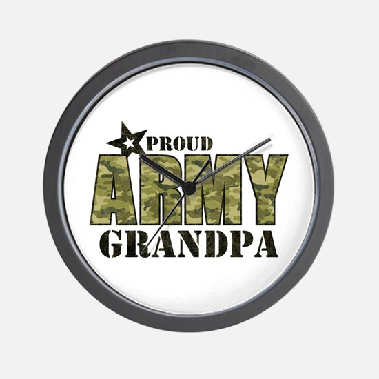 Camo Proud Army Grandpa Wall Clock