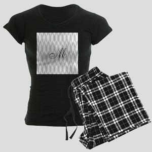 Monogram and Gray Graphic Pattern Pajamas