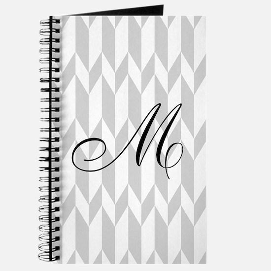 Monogram and Gray Graphic Pattern Journal