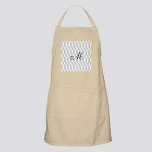 Monogram and Gray Graphic Pattern Apron