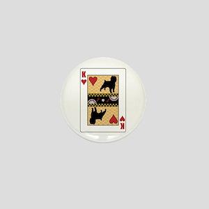 King Affenpinscher Mini Button