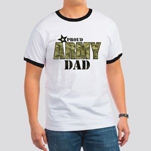 Camo Proud Army Dad Ringer T