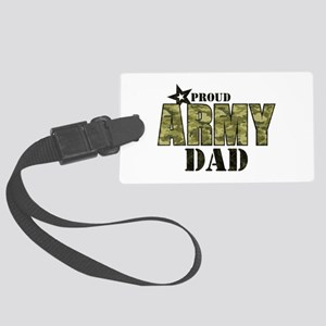 Camo Proud Army Dad Large Luggage Tag