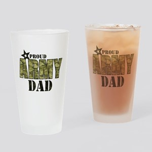 Camo Proud Army Dad Drinking Glass