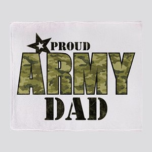 Camo Proud Army Dad Throw Blanket