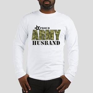 Camo Proud Army Husband Long Sleeve T-Shirt