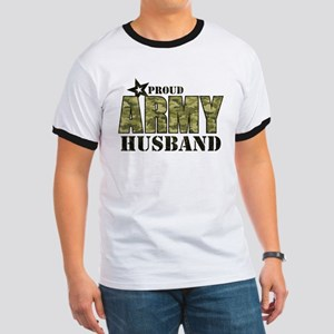Camo Proud Army Husband Ringer T