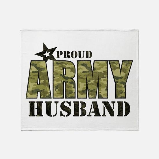 Camo Proud Army Husband Throw Blanket
