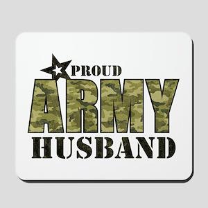Camo Proud Army Husband Mousepad