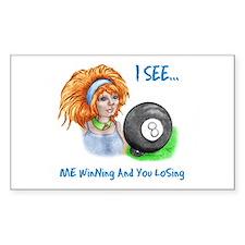 8 Ball Fortune Teller Sticker (Rectangle 10 pk)