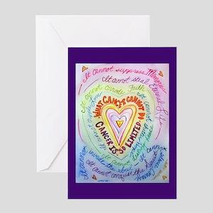 Rainbow Heart Cancer Greeting Card
