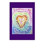 Rainbow Heart Cancer Postcards (Package of 8)