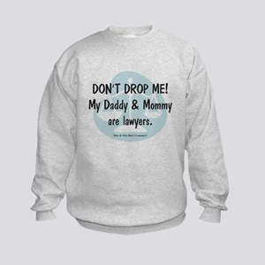 Daddy & Mommy Lawyers Kids Sweatshirt