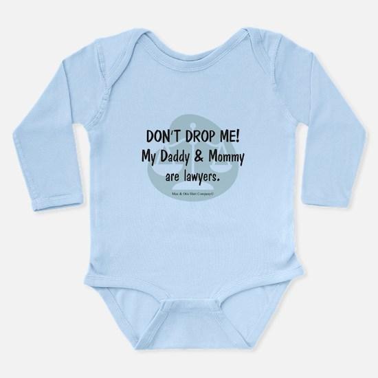 Daddy & Mommy Lawyers Long Sleeve Infant Bodysuit