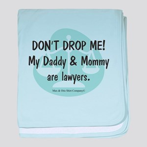 Daddy & Mommy Lawyers baby blanket