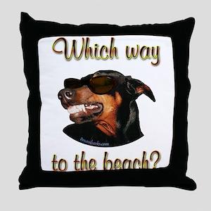 Beach Dobe Throw Pillow
