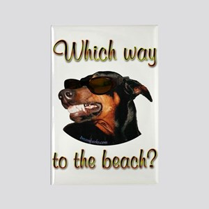 Beach Dobe Rectangle Magnet