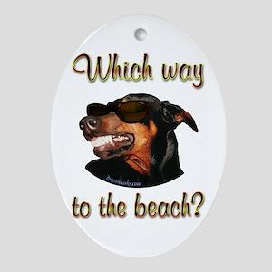 Beach Dobe Oval Ornament