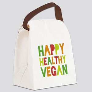 Happy Vegan Canvas Lunch Bag
