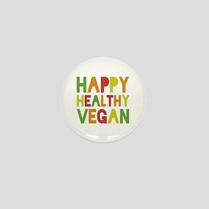 Happy Vegan Mini Button