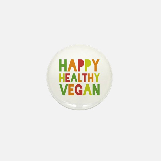 Happy Vegan Mini Button