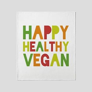 Happy Vegan Throw Blanket