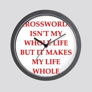 crosswords Wall Clock