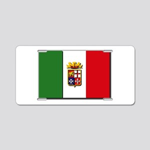 Italian Naval Ensign Flag Aluminum License Plate